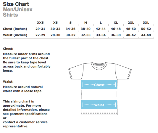 Shirt Size Chart Philippines Shirt Sizing Chart